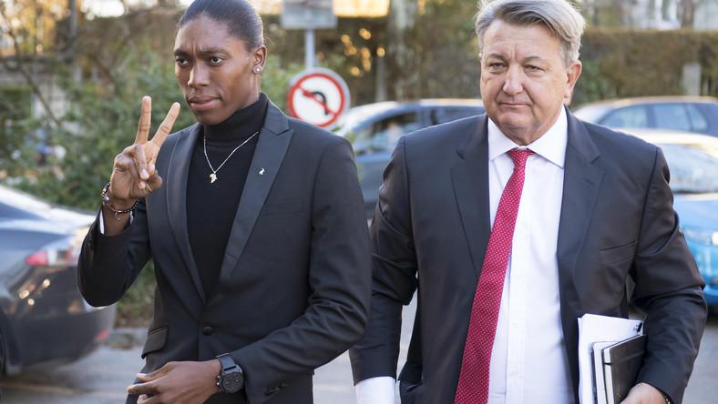 Caster Semenya (z lewej)