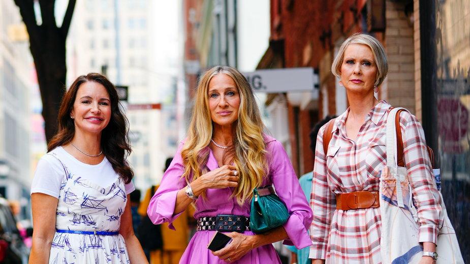 """Kristin Davis, Sarah Jessica Parker i Cynthia Nixon na planie kontynuacji serialu """"Seks w wielkim mieście"""",  """"And Just Like That"""""""