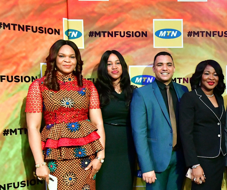 Chief Enterprise Business Officer, MTN Nigeria, Lynda Saint-Nwafor; General Manager Enterprise Business, MTN Nigeria, Barbara Ezeh Anozia; Group General Manager, Partnerships, MTN Group, Ralph Vraagom and GM, Enterprise Marketing, MTN Nigeria, Onyinye Ikenna-Emeka at the maiden edition of MTN Partner Summit in Lagos state