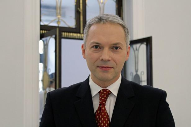 Jacek Żalek - poseł PiS i wiceprzewodniczący klubu parlamentarnego tego ugrupowania, należy do partii Porozumienie Jarosława Gowina; autor: Lukas Plewnia (CC-BY-SA-2.0)