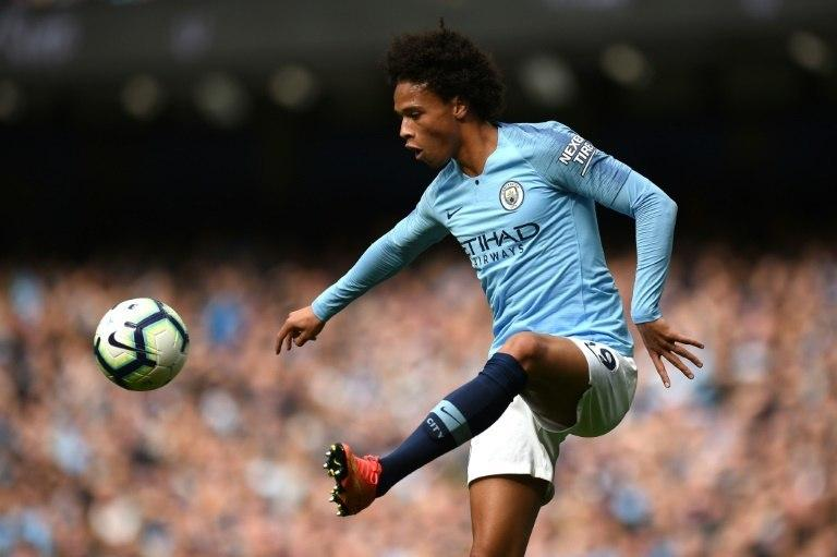 Manchester City's Leroy Sane showing his skill in a 3-0 win over Fulham at the Etihad Stadium