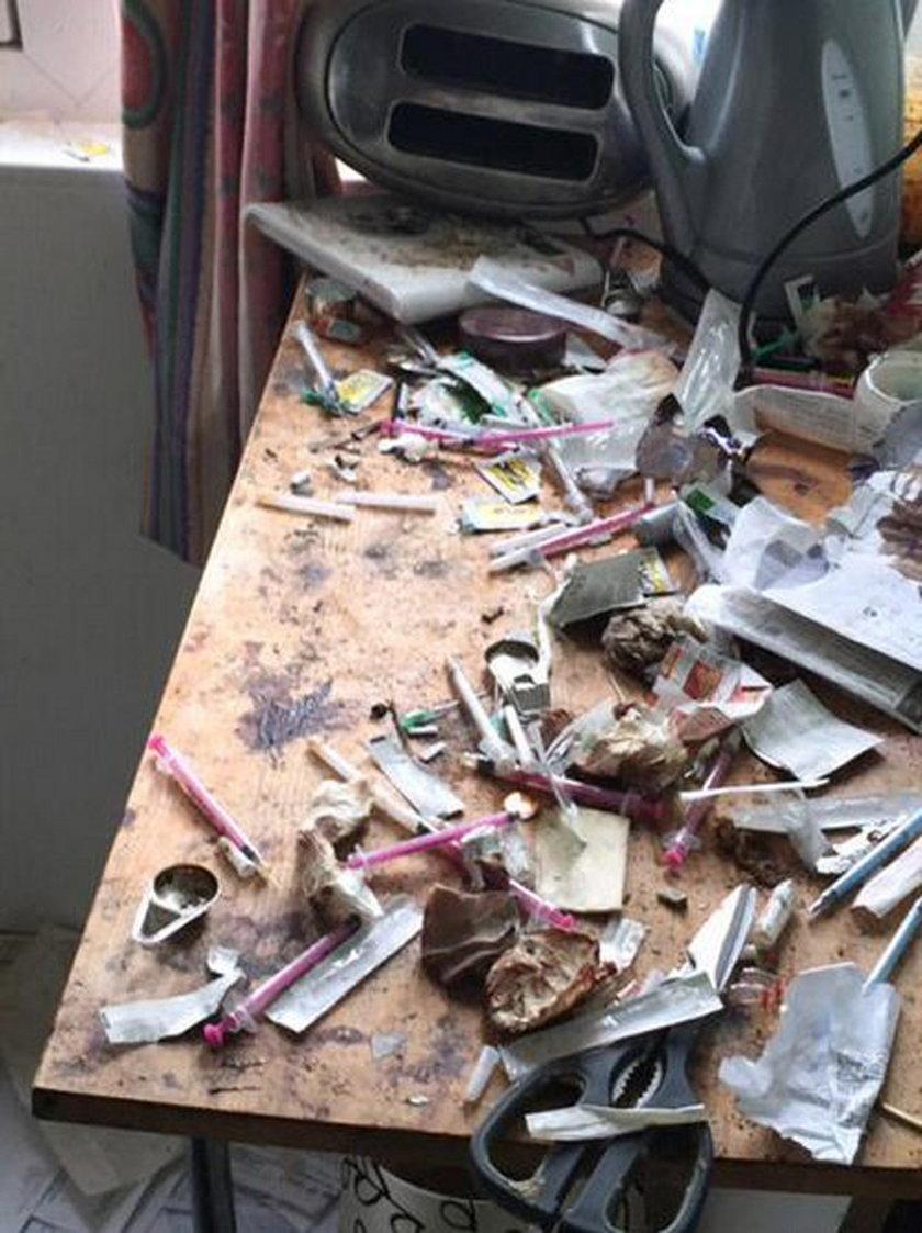 Policja odkryła miejsce, gdzie zażywano i sprzedawano heroinę
