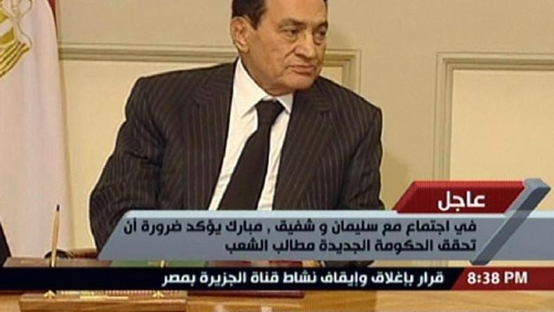 Hosni Mubarak, fot. AFP