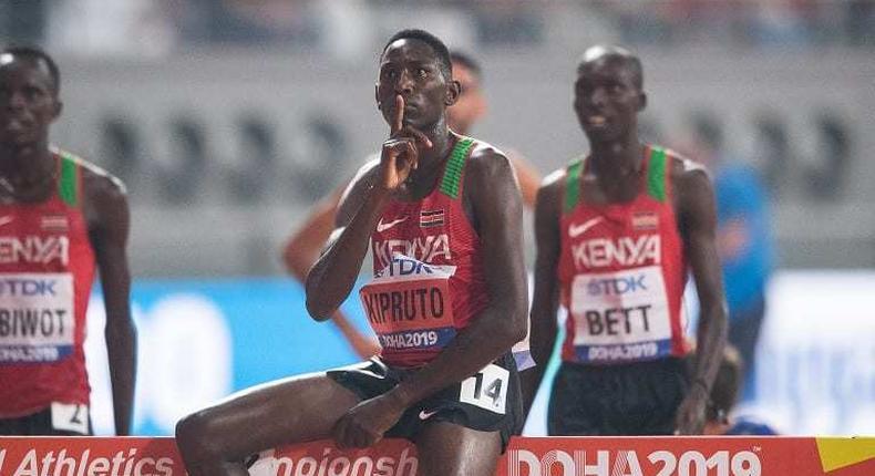 Kenyan athlete Conseslus Kipruto. (CitizenTV)