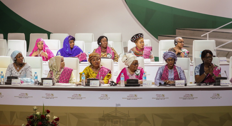 African First Ladies at the 23rd Ordinary General Assembly of the Organization of African First Ladies for Development (OAFLAD) in Niamey, Niger.