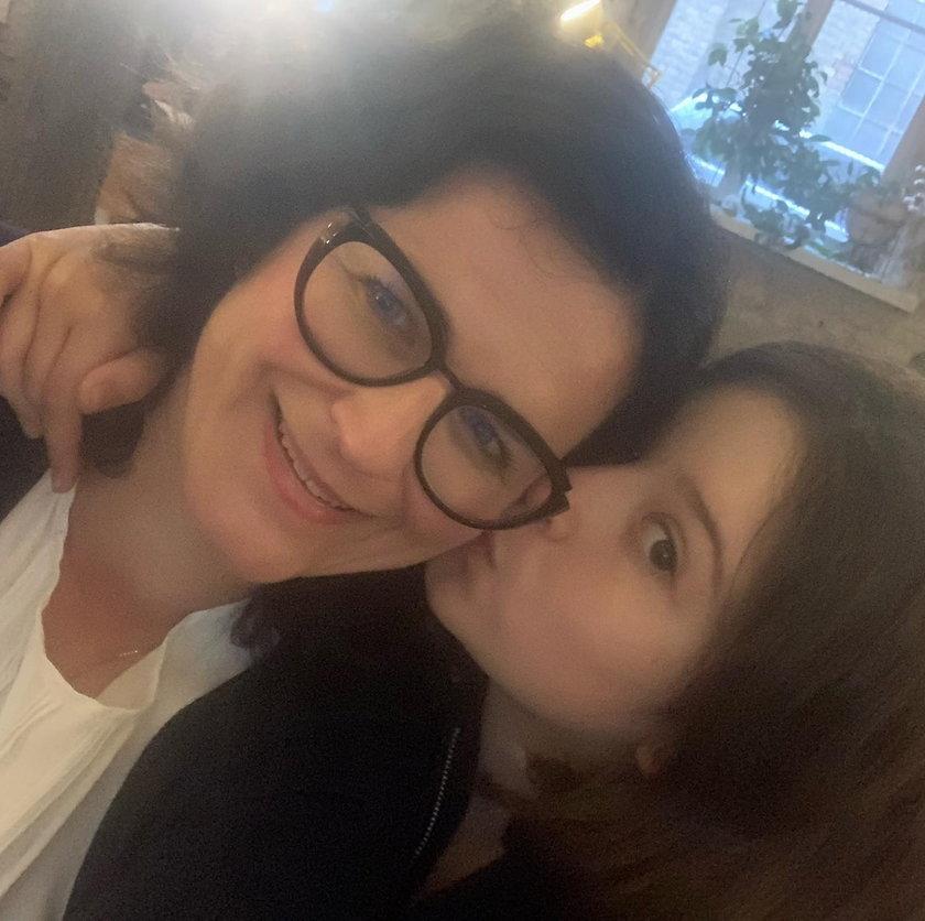 Prezydent Gdańska z córką Zosią.