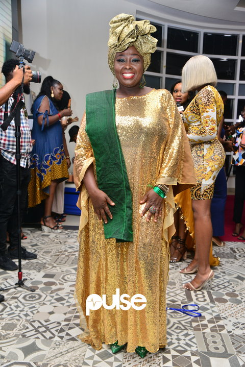 Popular OAP, Lolo, at the premiere of the 'The Legend of Inikpi' [PULSE]