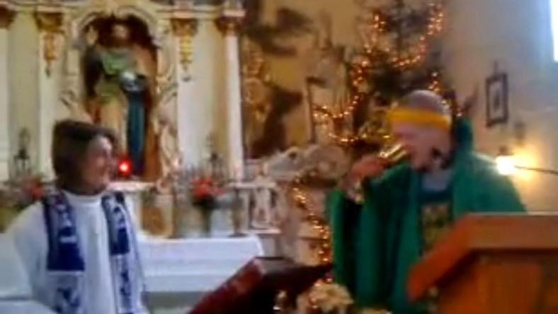 """Profanacja w kościele. Przebrali się za księży i """"oprawiali mszę"""""""