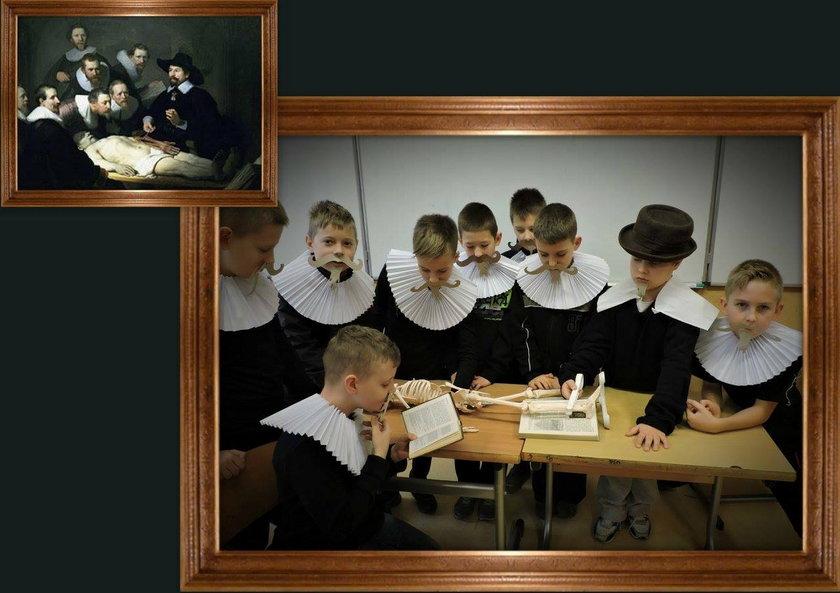 Uczniowie odtworzyli największe dzieła sztuki