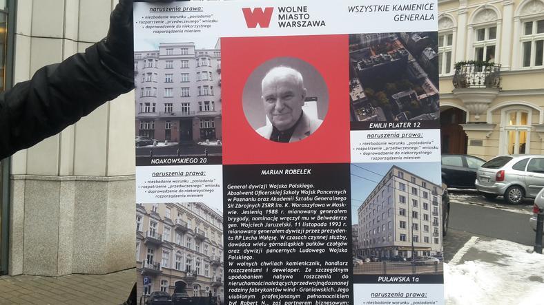 Aktywiści z WMW zrobili mapę działań gen. Mariana Robełka