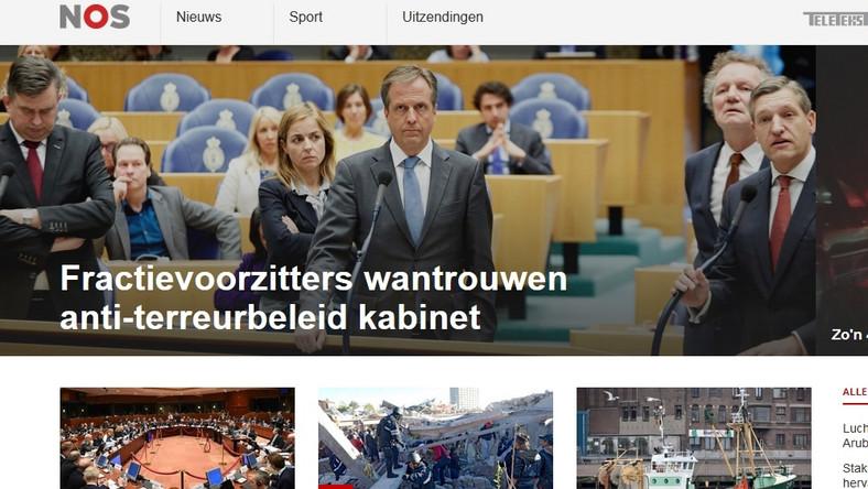 Strona interntowa telewizji NOS