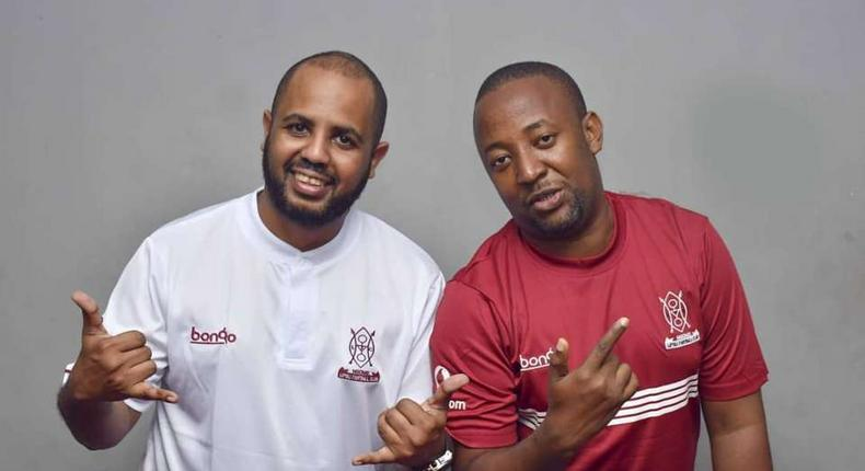 Sallam SK  with Babu Tale. Diamond's manager explains what will happen to scheduled Kenyan shows after ban