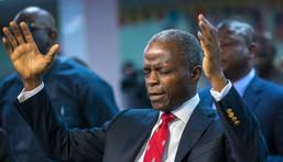Vice President, Prof Yemi Osinbajo praying (PMNews)