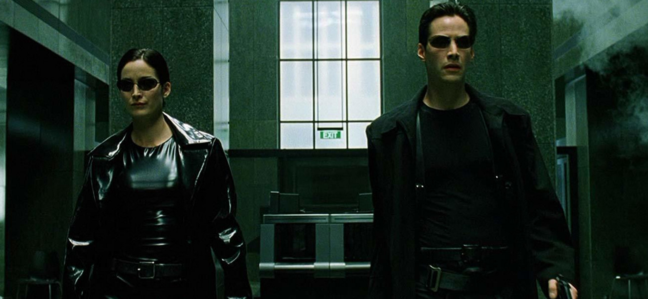 """Matrix"", 1999, Carrie-Anne Moss i Keanu Reeves / mat.pras"