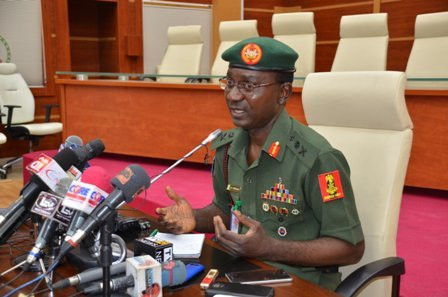DHQ spokesperson, Major-General John Enenche, says troops are committed to achieving sustainable peace [DHQ]