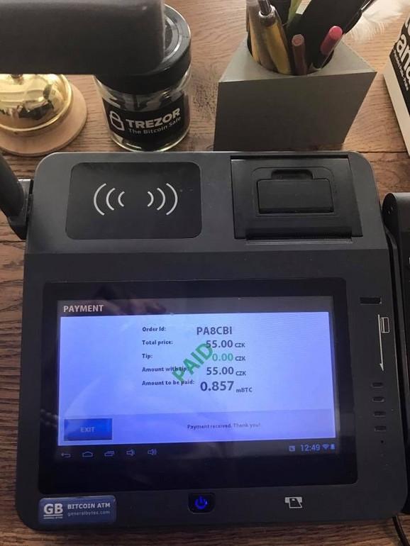 Račun se plaća uz samo jedan pokret rukom preko digitalnog čitača