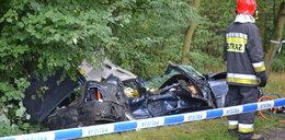 Tragiczny wypadek pod Lubinem. Dwie osoby nie żyją