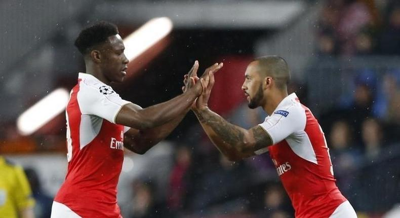 Danny Welbeck and his Arsenal and England teammate, Theo Walcott.