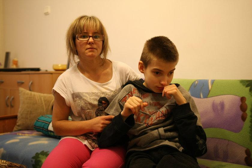 Joanna Kamińska (39 l.) i jej syn Michał (14 l.)