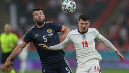 England midfielder Mason Mount (R) Creator: CARL RECINE
