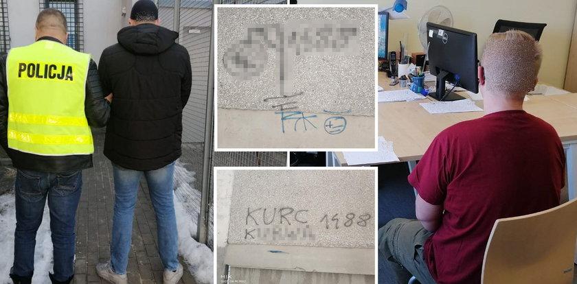 Groźby śmierci i nazistowskie symbole na bloku asystenta posłanki. Sprawcy są doskonale znani policji