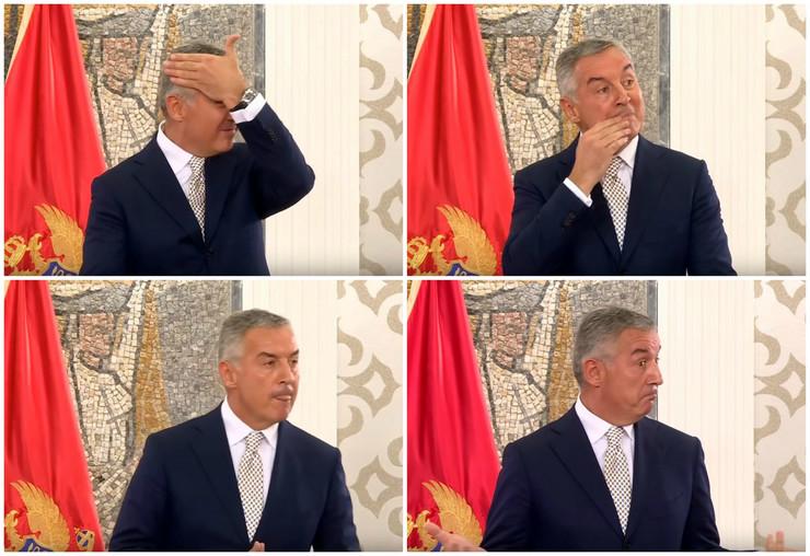 Milo Đukanović kolaž