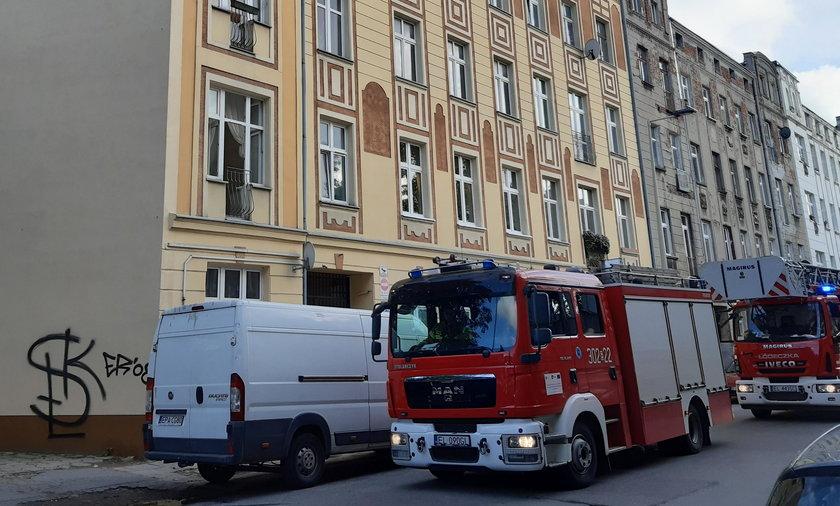 Pożar w Łodzi. Straż przyjechała, a tam...