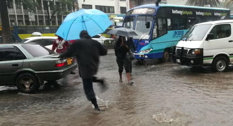 File image of Nairobi streets during heavy downpour