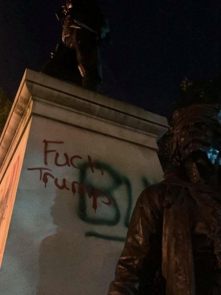 Zdewastowano pomnik Kościuszki przed Białym Domem