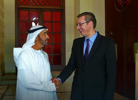 Šeik Mohamed bin Zajed i vicepremijer Aleksandar Vučić