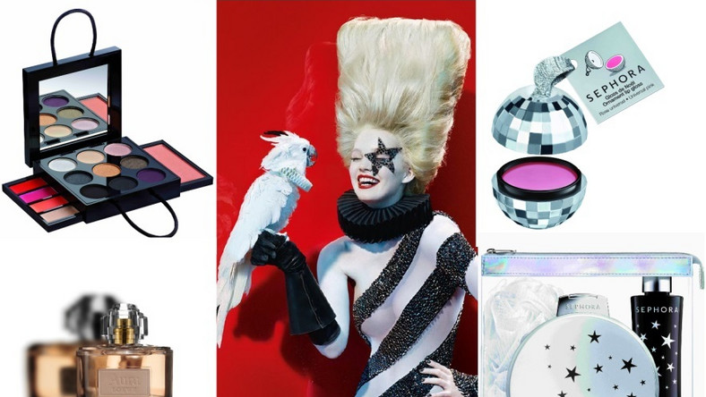 Jak co roku Sephora bawi się konwencją i przedstawia swoją wizję Świąt – Lady Barock i jej przyjaciel papuga kakadu Beauty Bird nadają ton rockowej imprezie świątecznej i przedstawiają pomysły na najpiękniejsze prezenty i zachwycające zestawy upominkowe. Na ten magiczny okres Sephora przygotowała ekstrawagancką i awangardową ofertę. Znajdują się w niej: nowa kolekcja kosmetyków do kąpieli – Enigmatic Bath, zaskakujące kosmetyki do makijażu oraz niepowtarzalne akcesoria. Sieć perfumerii oferuje także ogromny wybór kosmetyków dostępnych wyłącznie w jej salonach. Na kolejnych zdjęciach znajdziecie najciekawsze z nich niektóre z nich