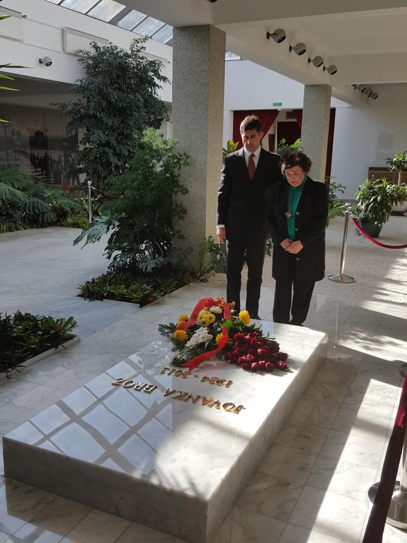 Nada Budisavljević sa sestrićem Jovanke Broz