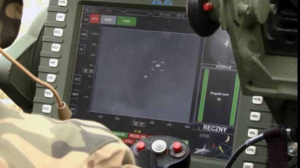 Zestawy przeciwlotniczy Pilica - ekran operatora