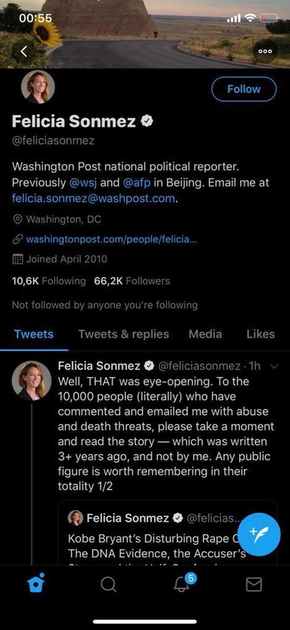 Felicija Sonmez i tvit koji je obrisala