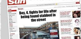 Dźgał nożem czterolatka! Chłopiec walczy o życie