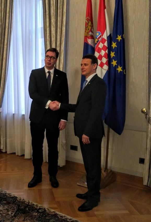 Aleksandar Vučić i Goran Jadroković