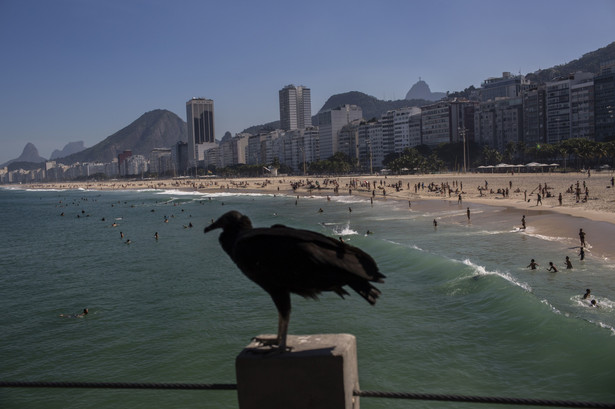 Plaża Copacabana w Rio de Janeiro, Brazylia, 20.06.2020