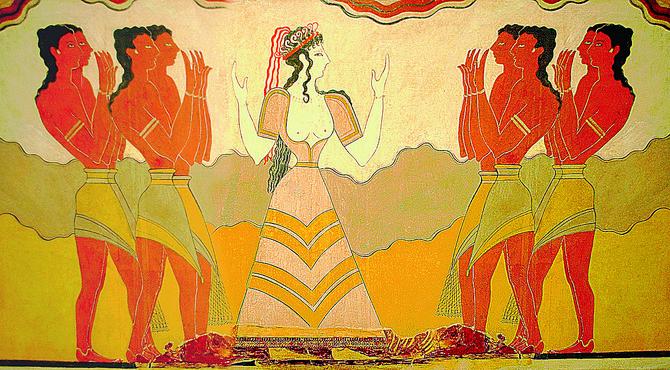 Prvi korseti zabeleženi su na freskama u palati u Knososu
