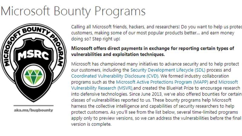 Microsoft zachęca do polowania na błędy