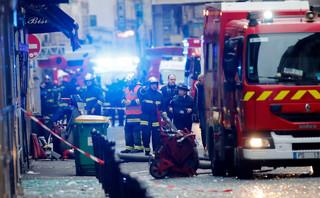 Paryż: Wybuch i pożar w centrum miasta. Policja podejrzewa wyciek gazu