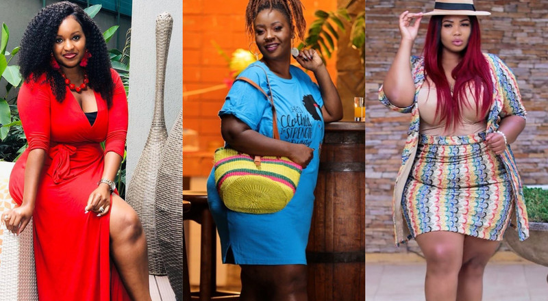 10 Plus Size Kenyan female celebrities making impeccable fashion statements