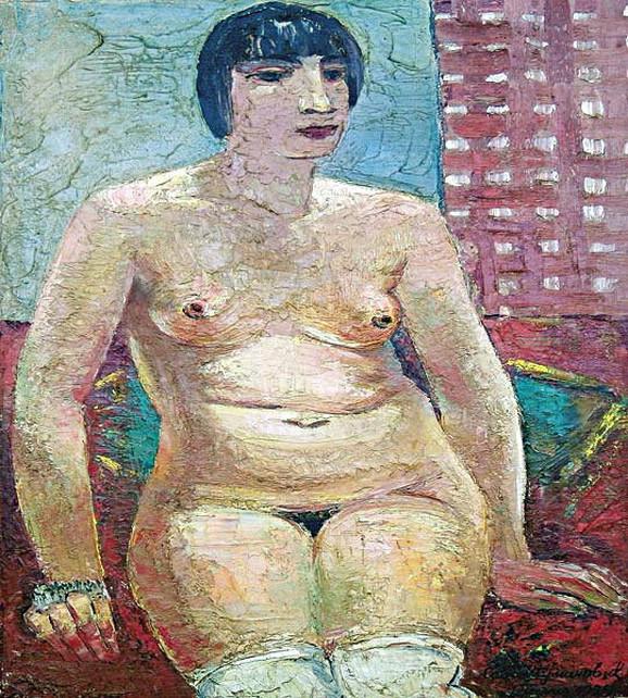 """Šumanovićev """"Pariski model – Kiki"""", ulje na platnu, 1929. godine"""