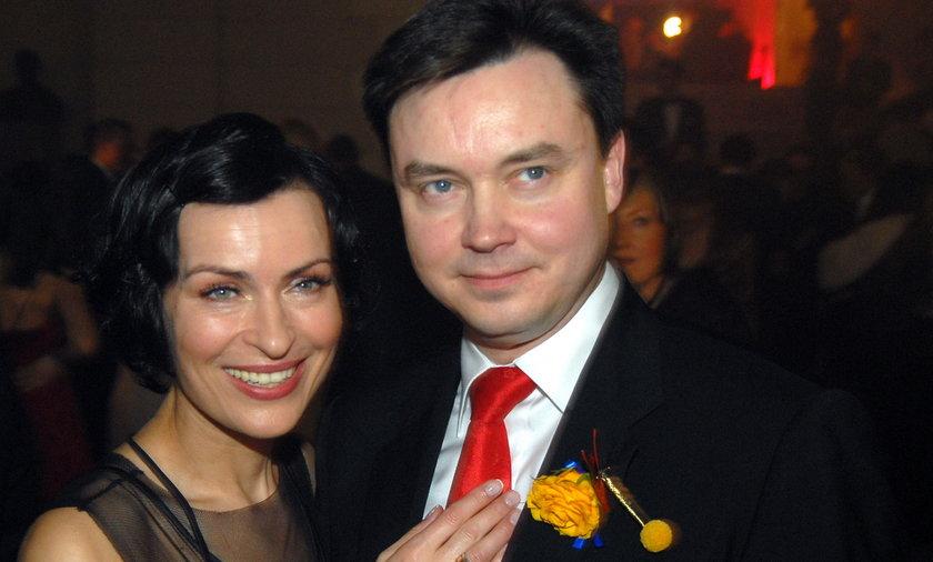 Danuta Stenka z mężem Januszem Grzelakiem.