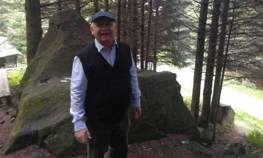Jarosław Kaczyński w górach