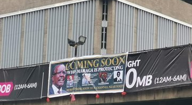 Mysterious banners of CJ Maraga erected along busy roads