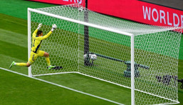 David Marshall was caught out by Patrik Schick's incredible long-range strike for the Czech Republic Creator: ANDY BUCHANAN