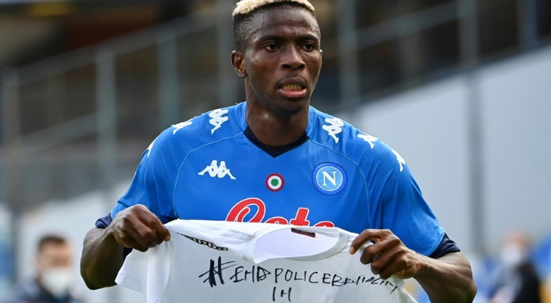 'End Police Brutality in Nigeria,' calls Osimhen after first Napoli goal
