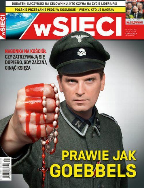 """Tomasz Lis na okładce """"wSieci"""""""