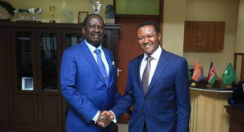 Machakos Governor Alfred Mutua declares support for ODM's Imran Okoth on Saturday, November 2, 2019