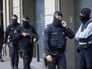 Anti- jihadist terrorism police operation in Barcelona